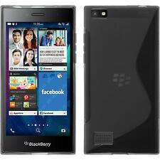 Silicone Case BlackBerry Leap S-Style gray + protective foils