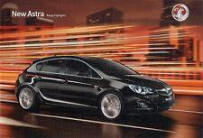 Vauxhall Astra 5-dr 2009-10 UK Market Launch 24pp Sales Brochure