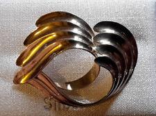 Brosche auffällige, geschwungene Form, Silber 835er vintage