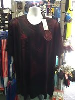 Adidas Mexico Parley Prematch Black Red Jersey 2018 Men's Size 2XL Men's Only
