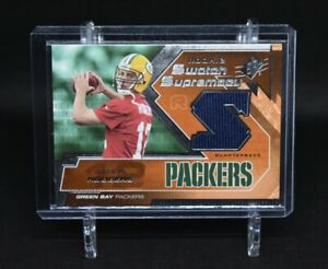 2005 Upper Deck SPx Green Bay Packers Aaron Rodgers Rookie Navy Patch SP RC