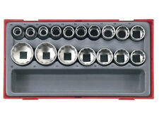 Teng Tools TT1217 17 Pce 1/2 Drive Socket Set 12 Point Bi Hex Double Cut + CASE
