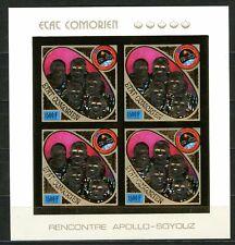 Comores APOLLO SOYOUZ space 1975 Gold Foil  Or  MICHEL 255 B cote 140 euros