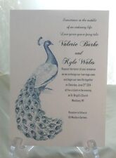 50 PEACOCK WEDDING INVITATIONS + 50 RSVP CARDS CUSTOMIZED + PERSONALIZED FOR YOU