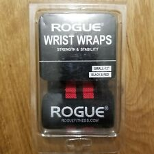 """New Rogue Fitness 12"""" Wrist Wraps, Black / Red, Power Weightlifting & Crossfit"""