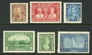 Canada 1935 KGV Silver Jubilee  Sc #211-216 MNH Y230
