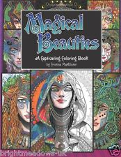 Magical Beauties Fantasy Mystic Adult Colouring Book Creative Art Therapy Relax