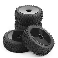 4X Front&Rear Rubber Tires&Wheel 12mm Hex For HSP HPI RC 1:10 Off-Road Buggy Car