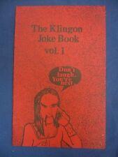 Star Trek  The Klingon Joke Book Vol. #1 VGC