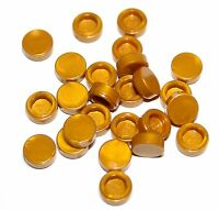 25x LEGO® Fliese/Kachel 1x1 rund 98138 NEU Perl Gold
