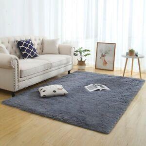 Silky Fluffy Carpet Modern Home Decor Long Plush Shaggy Rug Children's Play Mats