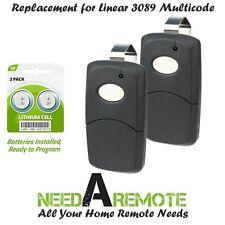 2x For 3089 multi-code multicode 308911 Linear Mcs308911 300mhz black remote