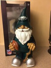 "NFL Philadelphia Eagles 11"" Team Garden Gnome with Football & Cane, NIB"