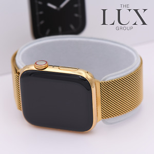 24K Series 6 Gold Plated Apple Watch with 24k Gold Milanese 40mm Band free Sport