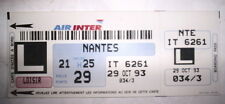 BILLET D'AVION AIR INTER NANTES 29 OCT 93