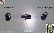 1 x SMA To TS9 Antenna Adapter Converter SMA Jack to TS9 Plug Straight USA