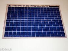 Microfiche Catalogo Ricambi Suzuki GSX 1300 Stand 01/2001