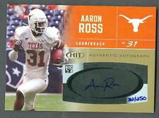 Aaron Ross 2007 Sage Hit Gold Auto card #31 Texas
