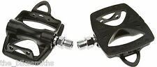 MKS GR-10 BLACK  PLATFORM TRACK ROAD BIKE COMMUTER PEDALS FIXED GEAR Japan NEW