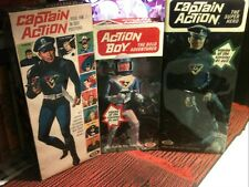 """1966 Captain Action Action Boy;by Ideal;3 """"Repro""""Boxes"""