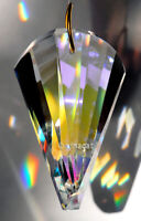 SunCatcher Wave Swirl Cut 50mm Austrian Crystal Clear AB Prism 2""