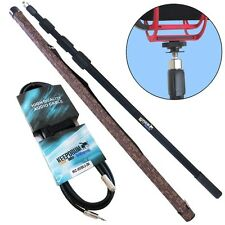 Tamburi mpb03 boom pole 3m canna telescopica Angel + 3m Cavo di prolunga 3,5mm
