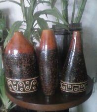 "Animal Print Vase Set(3) 10"" Tall Decorative Home Décor EUC"
