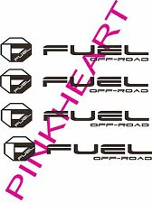 """Fuel off road sticker decal decals 4 fuel wheel wheels USA made octagon 12"""" x 2"""""""