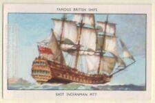 "East India Man ""Pitt"" Armed Merchant Trading Sailing Ship 60+ Y/O Ad Trade Card"