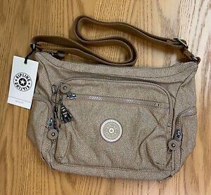 NEW KIPLING GABBIE S Crossbody Bag in Dotted D Beige Designer Shoulder Hand Tote