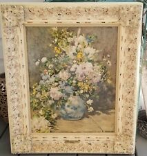 Large Vase with Flowers Oil on Canvas Painting by Renoir-Vintage-Good Condition