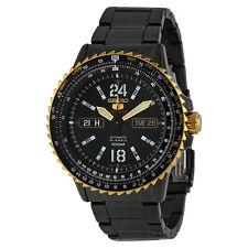 NEW MEN'S ALL BLACK SEIKO 5 SPORTS 24 JEWEL AUTOMATIC FLIGHTMASTER SRP356J1