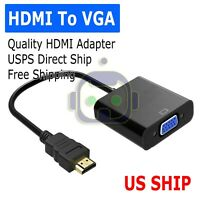 1080P HDMI Male to VGA Female Video Cable Cord Converter Adapter For PC HDTV