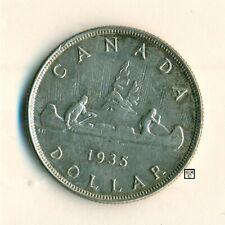 Canada 1935  $ Dollar Coin ;  AU