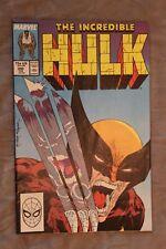 INCREDIBLE HULK #340 - Wolverine vs Hulk - High Grade - CGC it