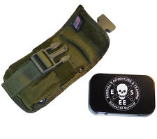 Esee Accessory Pouch Tin Olive fits Model 5 or 6 or Laser Strike Knife Sheath