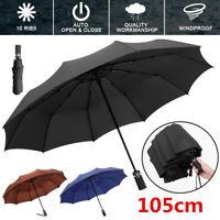 Fj- Ombrello Automatico Anti UV Sole Pioggia Antivento Pieghevole Compatto Fadd