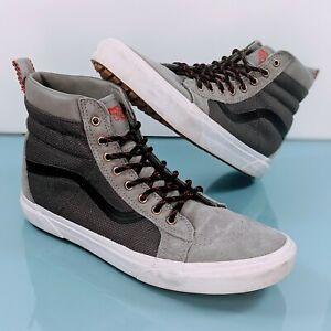 VANS Sk8 Hi MTE Hiking Scotchgard Men's Sz 11.5 Gray Suede Winter Skate Shoes