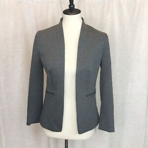 J. Crew 365 Womens Size 2 Going Out Blazer In Stretch Twill Gray Open Front