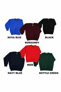 Balmoral Kids Jumper Sweatshirt School Unisex Black Burgundy Green Red Blue