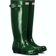 Hunter Original Tall Gloss Ladies Hunter Green Boots 7