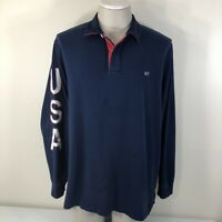 Vineyard Vines Men's XL Long Sleeve USA Whale Collar Shirt Blue Used Pre-Owned