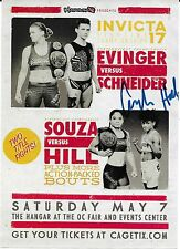 Angela Hill Signed Invicta FC 17 MMA 5x7 Event Poster Flyer UFC TUF 20 Autograph