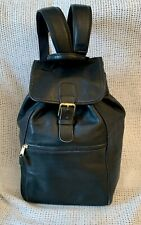 Large Vintage *COACH* 0529 Black Leather Backpack Rucksack Shoulder Bag