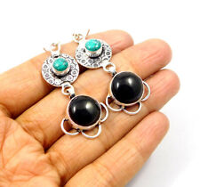 Black Onyx .925 Silver Plated Handmade Earring Jewelry Jc9584