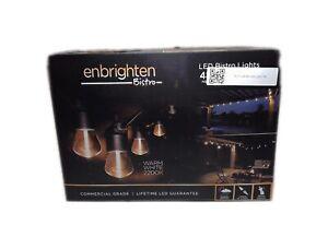ENBRIGHTEN 48 ft. Black  Bistro Integrated LED String Light 38357