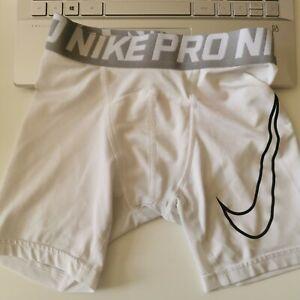 Nike Pro Base Layer Shorts, Medium 10-12 Yrs, White