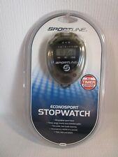 Sportline Econosport Stopwatch Model 240 Time, Date & Alarm, Sports Timer NEW