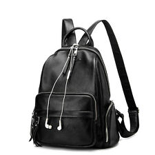 Women's Genuine Leather Laptop Backpack Satchel Rucksack Shoulder School Bags