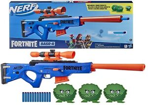 NERF Fortnite BASR R Bolt Action Blaster Ages 8+ Toy Gun Fire Play Fight Game